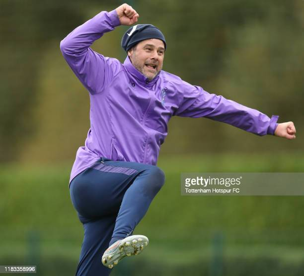 Mauricio Pochettino, Manager of Tottenham Hotspur during the Tottenham Hotspur training session at Tottenham Hotspur Training Centre on October 25,...