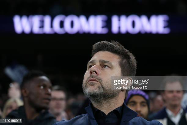 Mauricio Pochettino Manager of Tottenham Hotspur looks on prior to the Premier League match between Tottenham Hotspur and Crystal Palace at Tottenham...