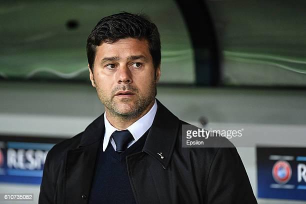 Mauricio Pochettino manager of Tottenham Hotspur looks on prior to the UEFA Champions League Group E match between PFC CSKA Moskva and Tottenham...