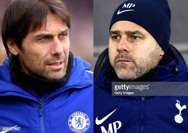 COMPOSITE OF TWO IMAGES Image numbers 907499970 and 900556924 In this composite image a comparison has been made between Antonio Conte Manager of...
