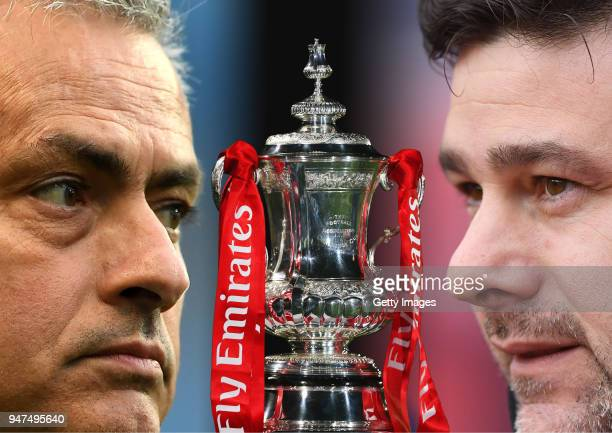GRADIENT ADDED COMPOSITE OF TWO IMAGES Image numbers 674036840 and 942986596 In this composite image a comparison has been made between Jose Mourinho...