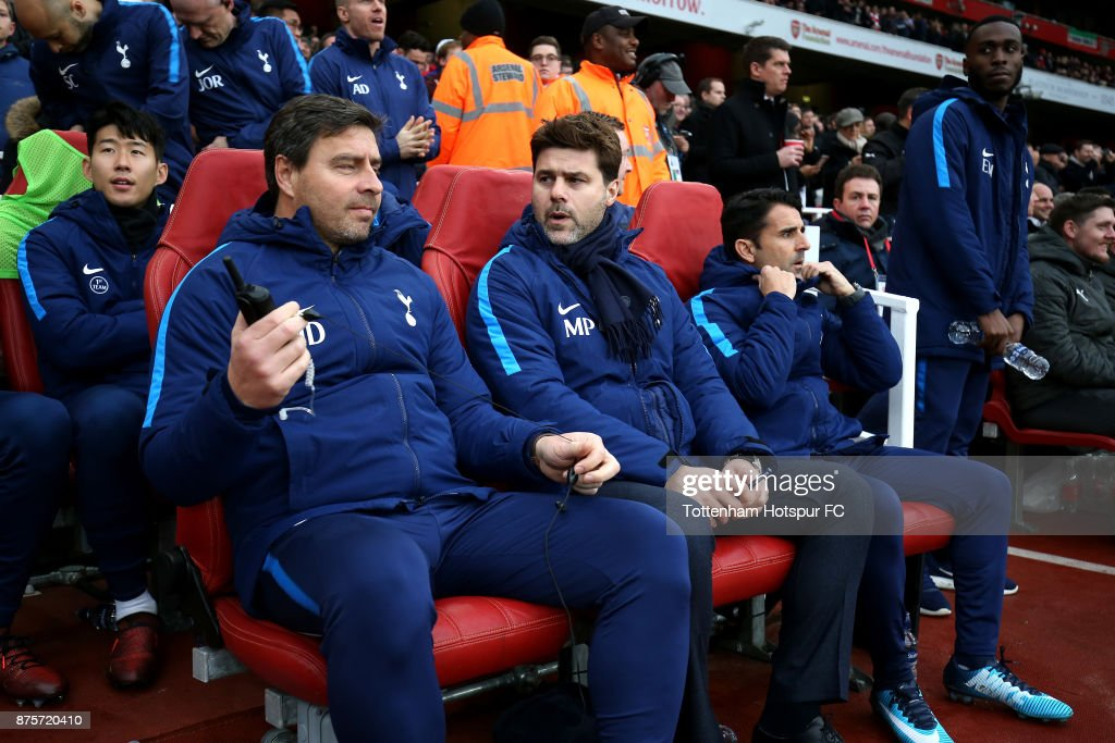 Mauricio Pochettino Manager Of Tottenham Hotspur With His Backroom News Photo Getty Images