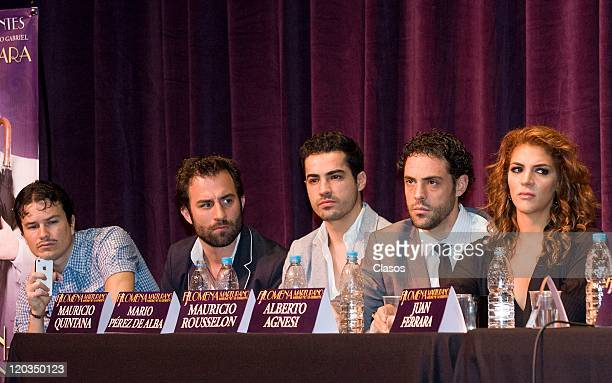 Mauricio Quintana Mario Perez de Alba Mauricio Rousselon Alberto Agnesi Wdeth Gabriel during the press conference to present the play Filomena...