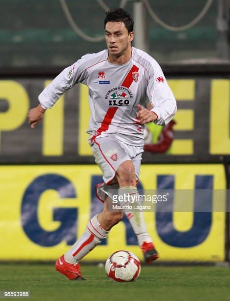 Mauricio Ricardo Ferrera Pinilla of US Grosseto is shown in action during the Serie B match between Reggina and Grosseto at Stadio Oreste Granillo on...