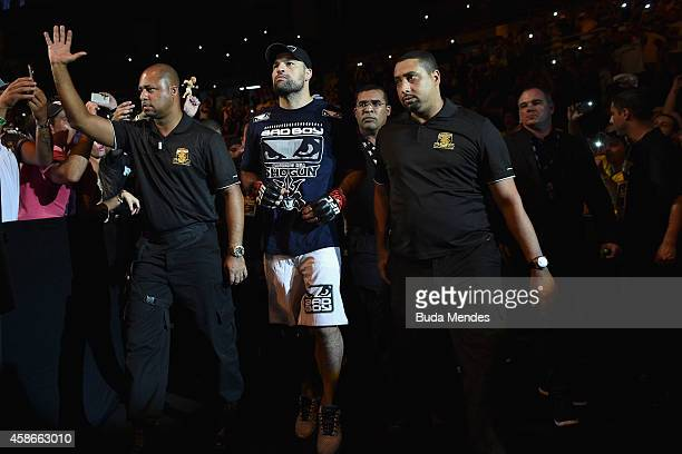 Mauricio 'Shogun' Rua enters the arena before his light heavyweight bout against Ovince Saint Preux of the United States during the UFC Fight Night...