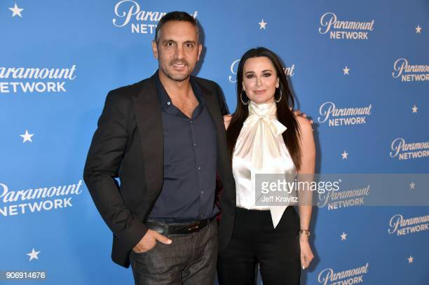 Mauricio Umansky and Kyle Richards attend Paramount Network launch party at Sunset Tower on January 18 2018 in Los Angeles California