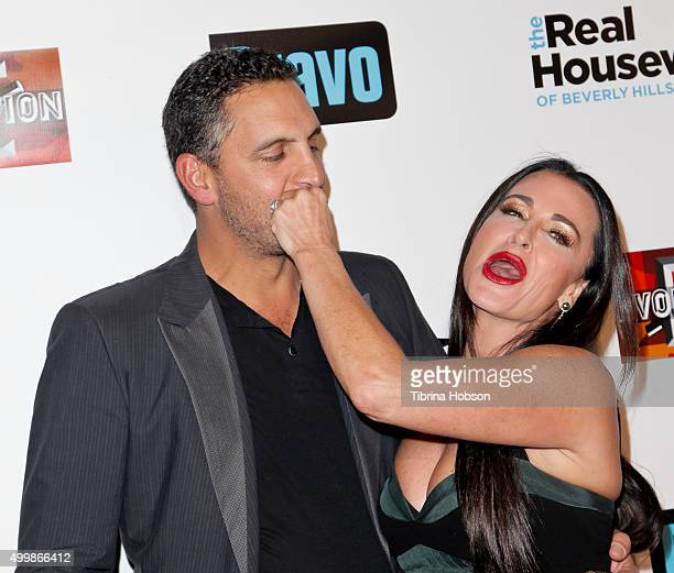 Mauricio Umansky and Kyle Richards attend the premiere party for Bravo's 'The Real Housewives Of Beverly Hills' season 6 at W Hollywood on December 3...