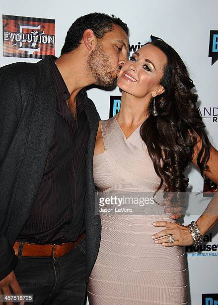 Mauricio Umansky and Kyle Richards attend the The Real Housewives of Beverly Hills and Vanderpump Rules premiere party at Boulevard3 on October 23...