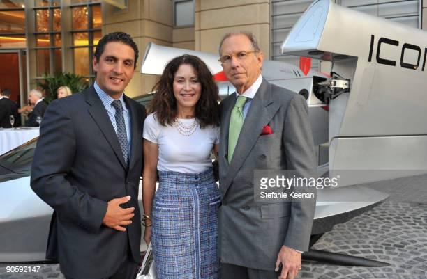 Mauricio Umansky Barbara Tenenbaum and Steven Tenenbaum attend The Carlyle Residences Grand Opening on September 10 2009 in Los Angeles California