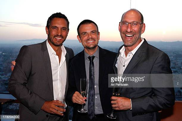 Mauricio Umansky Managing Director of Fendi Andrea Minnucci and Billy Rose attend the Los Angeles Confidential celebration of the newly designed...