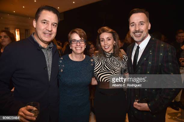 Mauricio Vallejo Jennifer Dominiquini Liliana Molina and David Furnish attend a cocktail party hosted by the Elton John AIDS Foundation and BBVA...