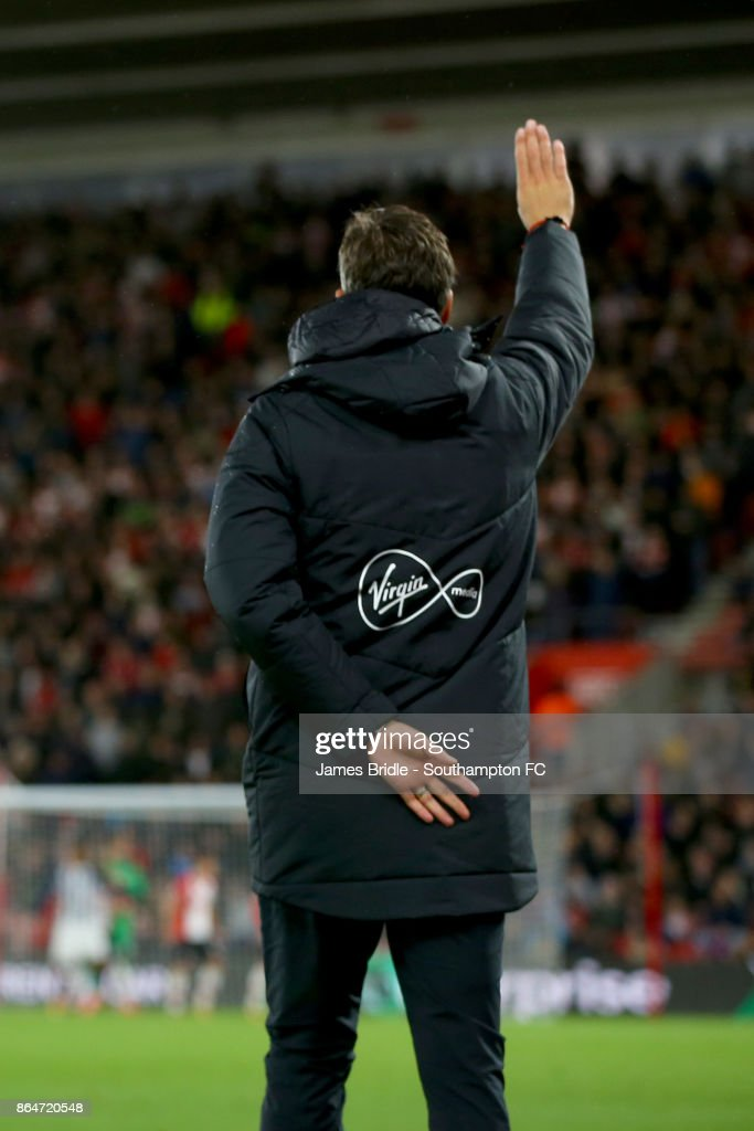 Maurico Pellegrino Southampton FC manager during the Premier League match between Southampton and West Bromwich Albion at St Mary's Stadium on October 21, 2017 in Southampton, England.