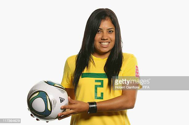 Maurine of Brazil during the FIFA portrait session on June 26 2011 in Dusseldorf Germany