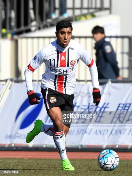 Maurinho of FC Seoul in action during the preseason friendly between Urawa Red Diamonds and FC Seoul at Urawa Komaba Stadium on February 12, 2017 in...