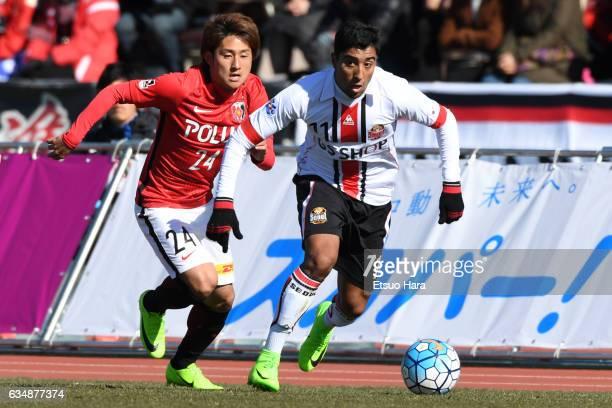 Maurinho#11 of FC Seoul in action during the preseason friendly between Urawa Red Diamonds and FC Seoul at Urawa Komaba Stadium on February 12, 2017...