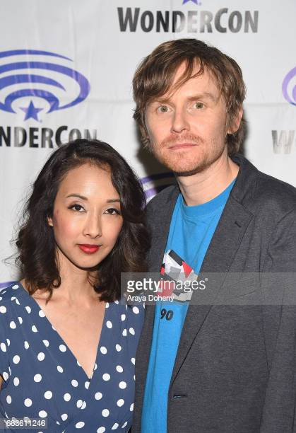 Maurissa Tancharoen and Jed Whedon attend the 'Agents of SHIELD' press panel at day two of WonderCon 2017 the at Anaheim Convention Center on April 1...