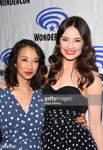 Maurissa Tancharoen and Mallory Jansen attend the 'Agents of SHIELD' press panel at day two of WonderCon 2017 the at Anaheim Convention Center on...