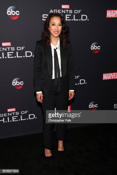Maurissa Tancharoen attends the 100th episode celebration of ABC's 'Marvel's Agents of SHIELD' at OHM Nightclub on February 24 2018 in Hollywood...