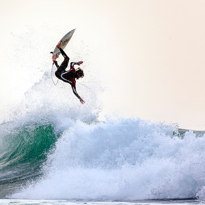 Mauritania, surfing in the Atlantic Ocean - gettyimageskorea