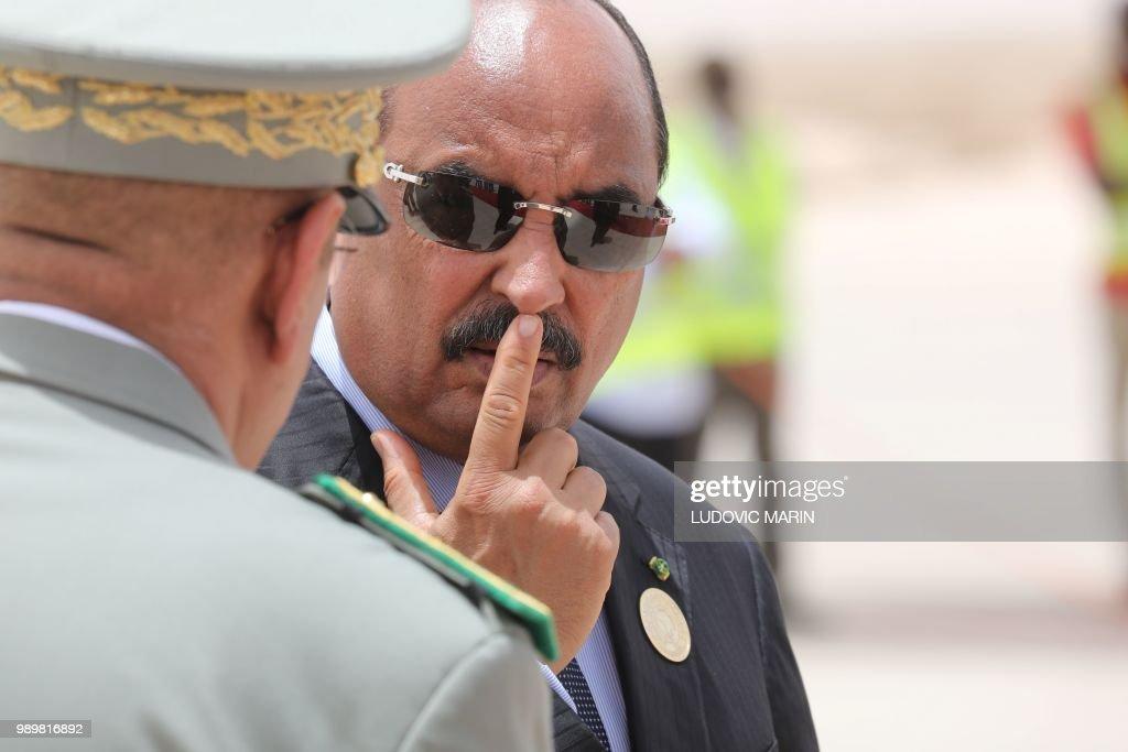 MAURITANIA-FRANCE-AU-SUMMIT : News Photo