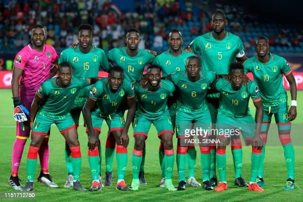 Mauritania's goalkeeper Suleiman Brahim Mauritania's defender Bakary Ndiaye Mauritania's midfielder Mohamed Dellah Yaly Mauritania's defender Aly...