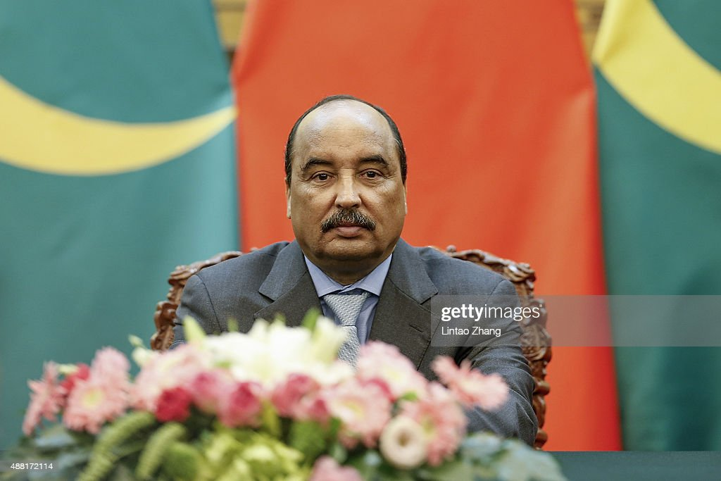 President Of Mauritania Mohamed Ould Abdel Aziz Visits China : News Photo