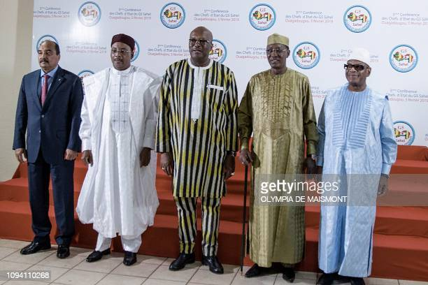 Mauritania's President Mohamed Ould Abdel Aziz Niger's President Mahamadou Issoufou Burkina Faso's President Roch Marc Christian Kabore Chad's...