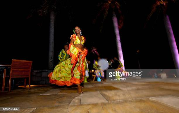 mauritian sega dancer - creole culture stock pictures, royalty-free photos & images