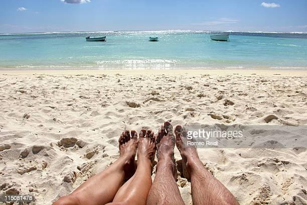 Mauritius - beach, boats and legs