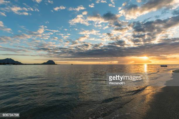 Mauritius, West Coast, Riviere Noire, Le Morne Brabant, sunset