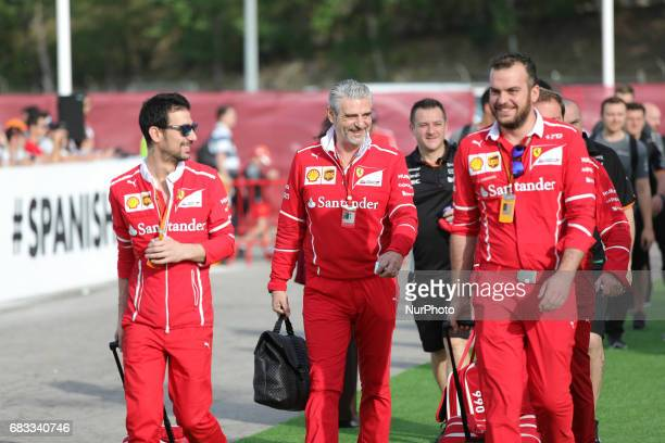 Maurizio Arrivabene during the Formula One GP of Spain 2017 celebrated at Circuit Barcelona Catalunuya on 14th May 2017 in Barcelona Spain