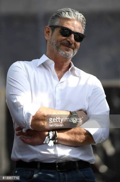 Maurizio Arrivabene on stage at the F1 Live in London event at Trafalgar Square on July 12 2017 in London England F1 Live London the first time in...