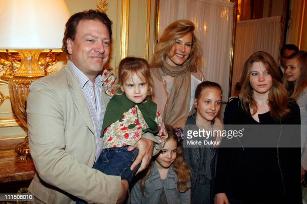 Maurizio Borletti and his wife Grace White attend the Association Chirurgie ' Eastern Celebration At Hotel Le Meurice at Hotel Meurice on April 3...