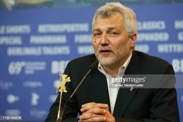 Maurizio Braucci winner of the Silver Bear for Best Screenplay attends the award winners press conference during the 69th Berlinale International...