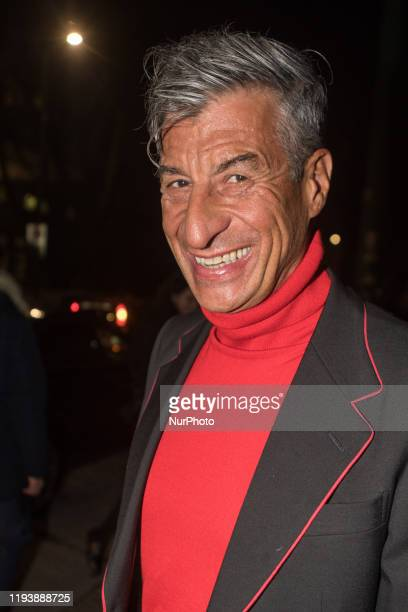 Maurizio Cattelan arrivals at Gucci private party at Fonderie Milanesi in Milan Italy on January 14 2020
