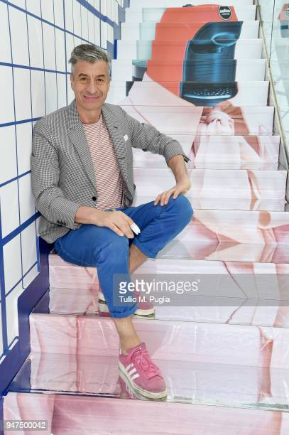 Maurizio Cattelan attends Pop Brunch by Carlo Cracco on April 17 2018 in Milan Italy