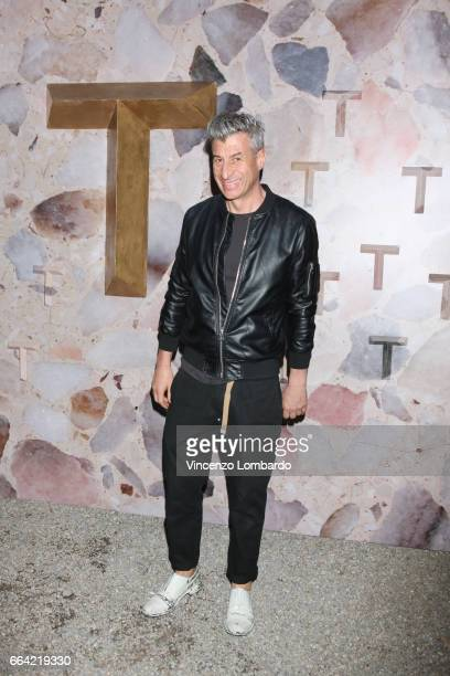 Maurizio Cattelan attends 'T Magazine The New York Times' Celebration of Milan Design Week on April 3 2017 in Milan Italy