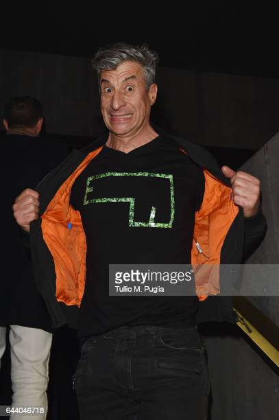 Maurizio Cattelan attends the Dsquared2 Volt Party on February 22 2017 in Milan Italy