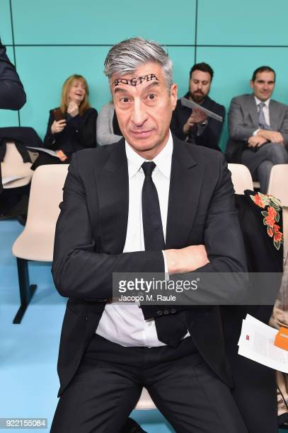 Maurizio Cattelan attends the Gucci show during Milan Fashion Week Fall/Winter 2018/19 on February 21 2018 in Milan Italy