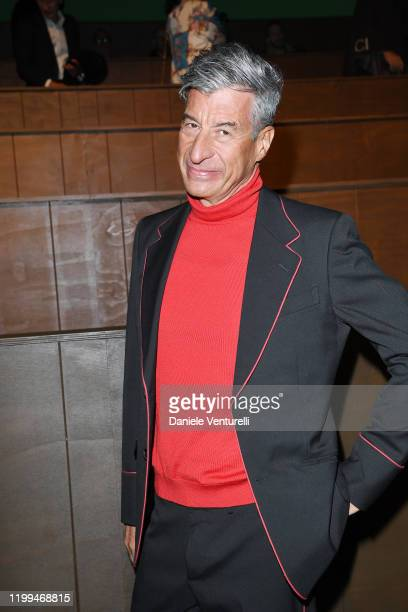 Maurizio Cattelan is seen on Gucci Front Row during Milan Menswear Fashion Week Fall/Winter 2020/21 on January 14 2020 in Milan Italy
