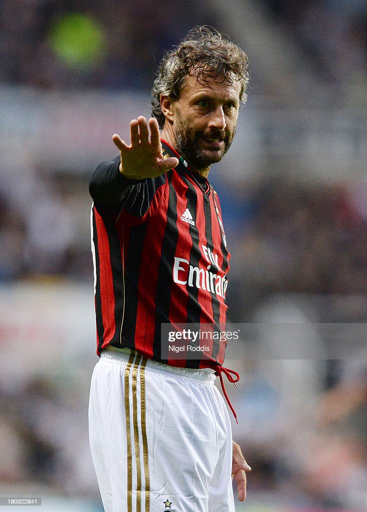 Maurizio Gant of AC Milan Glorie during Steve Harper's testimonial match between Newcastle United and AC Milan Glorie at St James' Park on September 11, 2013 in Newcastle upon Tyne, England.