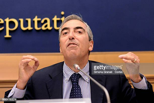 Maurizio Gasparri of Forza Italia during a press conference on the appointments of the directors of tg Rai and reform of the provinces on August 4...