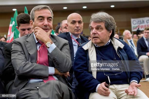 Maurizio Gasparri Senator Forza Italia Renato Brunetta leader of Forza Italia in the Chamber of Deputies during convention of Forza Italia 'Rome...