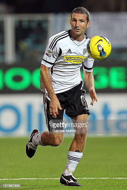 Maurizio Lauro of AC Cesena in action during the Serie A match between AC Cesena and US Lecce at Dino Manuzzi Stadium on November 6 2011 in Cesena...
