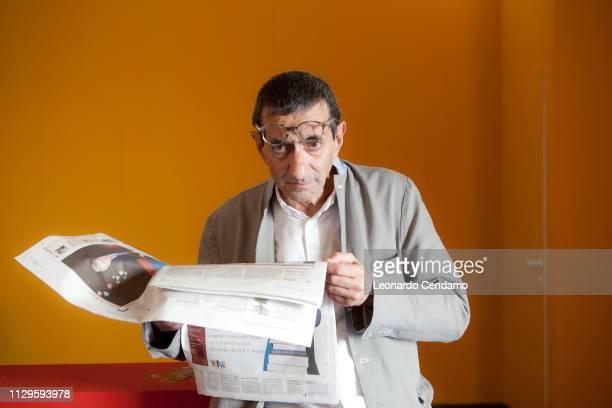 Maurizio Maggiani, Tuscan writer, Fiera Del Libro Internazionale Torino, portrait, Roma, Italy, 2010.