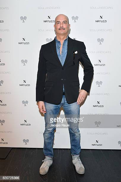 Maurizio Manzoni attends Natuzzi Soul Landscapes on April 12, 2016 in Milan, Italy.