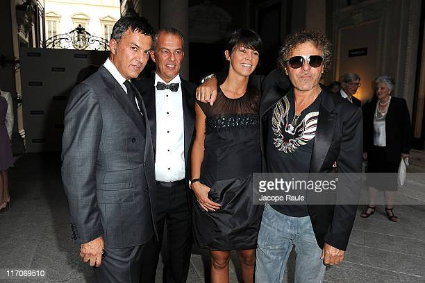 Maurizio Marcolin, Cirillo Marcolin, Arianna alessi and Renzo Rosso attend Marcolin Eyewear 50th Anniversary on June 20, 2011 in Milan, Italy.