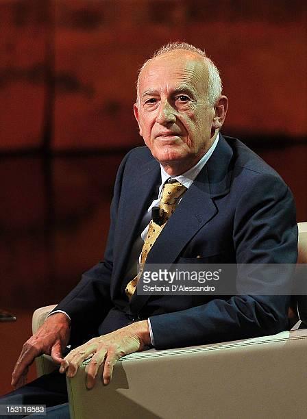 Maurizio Pollini attends 'Che Tempo Che Fa' Italian TV Show held at Rai Studios on September 30 2012 in Milan Italy