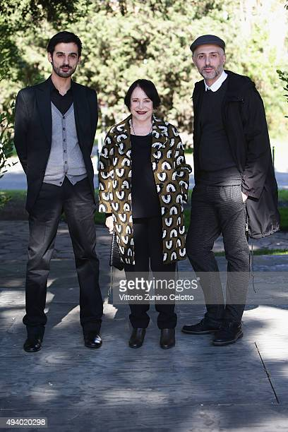 Maurizio Pusceddu Adriana Asti and Rocco Talucci attend the 'StarLight Cinema Award' during the 10th Rome Film Fest on October 24 2015 in Rome Italy