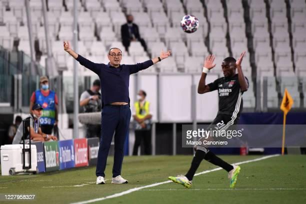 Maurizio Sarri , head coach of Juventus FC, during the Uefa Champions League match between Juventus Fc and Olympique Lyonnais. Juventus wins 2-1 over...